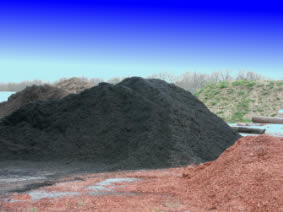 Mulches, including licorice mulch
