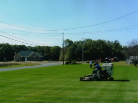 Turf performs grass mowing & turf care for all types of commercial property