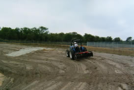 Preparation of soil to receive HydroSeeding...